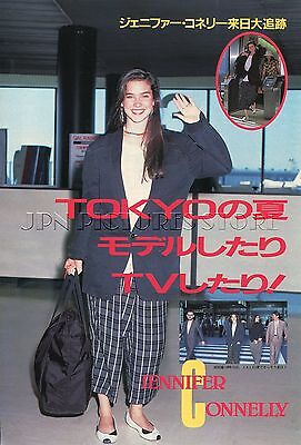JENNIFER CONNELLY in Japan 1986 JPN PICTURE CLIPPINGS 3-Sheets(5-Pages) #UG/R