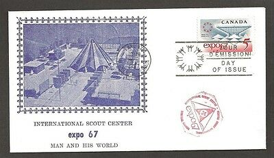 1967 Canada Montreal Expo International Scout Center FDC