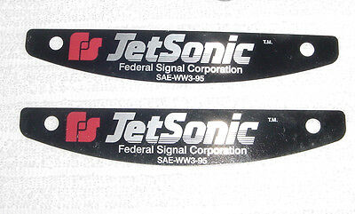 Federal Signal  JetSonic lightbar name plates NEW pair