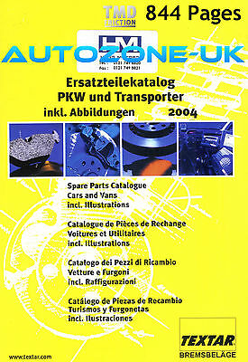 TEXTAR BRAKE PADS SHOES DISCS FITTING KITS ++ CATALOGUE 843pg ILLUSTRATED UNUSED