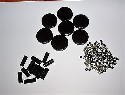 Bundle Of Beads / Spacers - Originally A Necklace From Next - Black