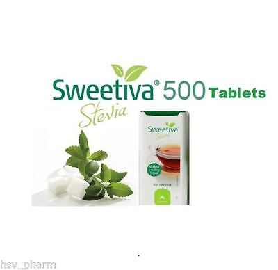 STEVIA SWEETENER 500 tablets - Slimmers/Diabetics - NATURAL SUGAR FREE -UK STOCK