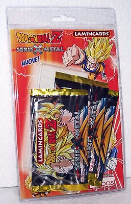 Dragon Ball Z Lamincards Serie X Metal Blister Con 3 Bustine Sigillate Nuove