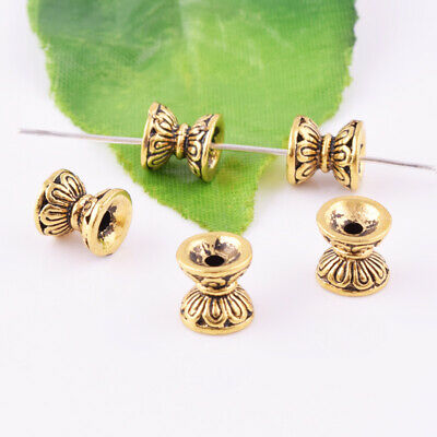 Wholesale Ancient Gold Charm Hourglass Loose Spacer Beads Jewelry Findings 8X8mm