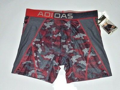 Adidas Stay Cool Climacool Mesh Boxer Brief PRIME CAMO SCARLET Red $24 retail