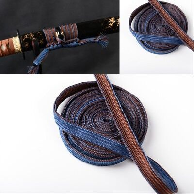 Blue Coffee silk Ito Sageo For Katana Wakizashi Tanto As Valentines Gift