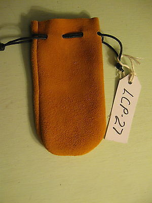 Lcp-27 Yellow Deerskin Leather Coin Pouch Or Bag Free Shipping In Usa.