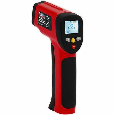 Sealey Twin-Spot Laser Infrared Digital Thermometer 12:1 LCD Display