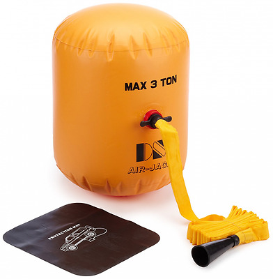 Inflatable Car Jack - Lifts Car by using a Very Strong Inflated Balloon & Pump
