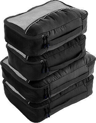 bago Packing Cubes For Travel - 10 Set Luggage and Accessories Organizer System