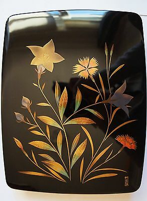 Authentic Japanese Wooden Lacquered Box - Rare & High quality by Ichiryo Sakurai