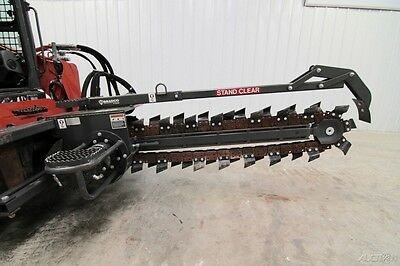 """2014 Bradco 640 Trencher 60"""" High Flow, Fits Skid Steer, Ready To Dig!"""