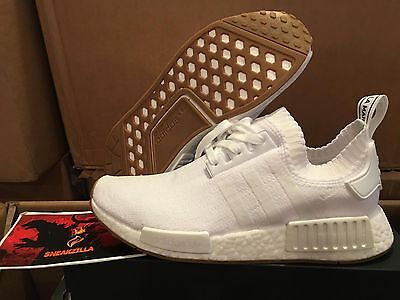 43def216a Adidas NMD R1 Triple WHITE GUM Pack Sole Black PK Primeknit Boost BY1888 Sz  8-