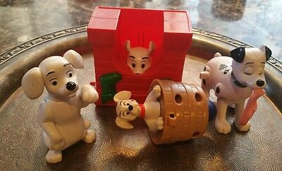101 102 Dalmations McDonalds Wind up Chimney, Slippers,Spin top, Oddball Lot 4