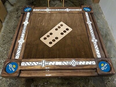 Inlay Domino with Corona Cupholders Domino Table by Domino Tables by Art