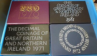 Uk Proof Set Cover Only From 1970 71 72 1981 Your Choice Of Year No Coins Hunt