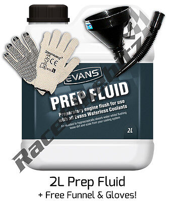 PREP FLUID FOR USE PRIOR TO USING EVANS POWER WATERLESS COOLANTS - 2 Litres