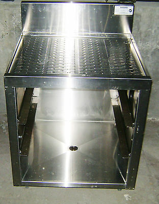 "24"" Krowne Metal KR18-GSB1 Royal 1800 Series Underbar Glass Rack Stainless Unit"