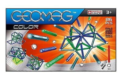 Geomag Color 86 Constuction System Magnetic Building Toy Set - SWISS MADE