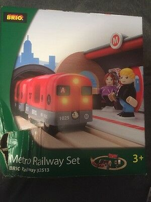 BRIO 33513 Metro Railway Wooden Train Set New With Package Damage