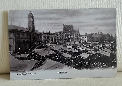 The Market Place, Leicester, postcard