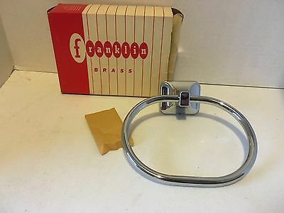 NEW OLD STOCK Chrome Towel Ring By Franklin 1950's