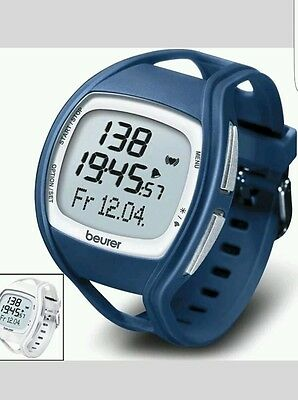 Beurer PM 45 Heart Rate Monitor - White/Blue %100 NEW CLEARANCE MY SHOP