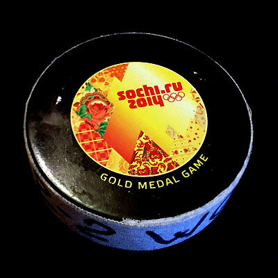 Marie-Philip Poulin 2014 Sochi Winter Olympics Game-Used Puck Gold Medal Game