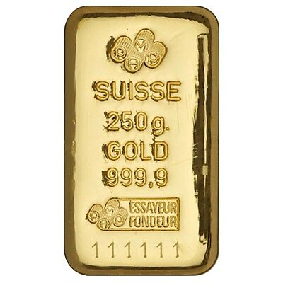 (NEW) 250 Gram PAMP Suisse Gold Bar £20,000.00