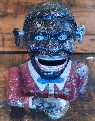 Vintage Mechanical Jolly N Bank Black Face Reproduction Starkie's