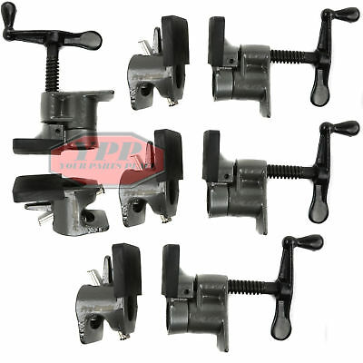 "4 Pack 3/4"" Wood Gluing Pipe Clamp Quick Release HD Wide Base Woodworking Pro"