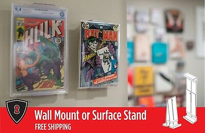 "Comic Book Frame Display - ""Two in One"" Adjustable Wall Mount or Shelf Stand"