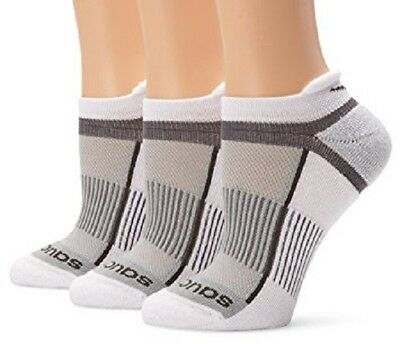 Saucony Mens Inferno No Show 3-Pack Running/Athletic Socks, All Sizes, New-White