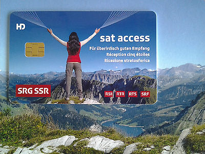 Schweizer TV HD Sat Karte SRG SRF  Sat Access Karte Orginal  Version 5.0 HDTV