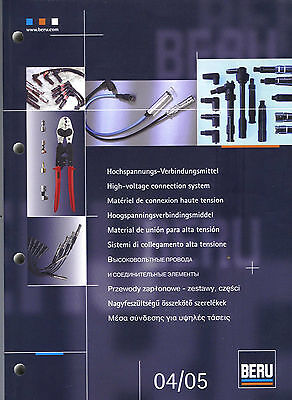 BERU HT LEADS CATALOGUE 2005 ILLUSTRATIONS X REF 552 Page A4 Size UNUSED