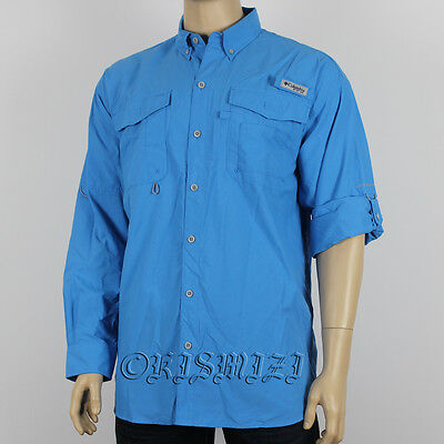 "New Mens Columbia PFG ""Bahama II"" Omni-Shade Vented  Fishing Shirt Large"