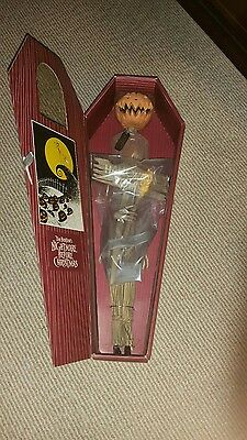"NIGHTMARE BEFORE CHRISTMAS - Pumpkin King Jack - 16"" Coffin Doll RARE"