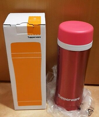 Tupperware Thermosbecher Isolierflasche f. Kaffee Tee 420ML Pink Thermo NEU