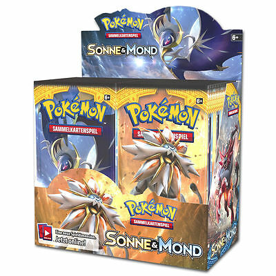 Pokemon Sonne und Mond - Booster Display - DE