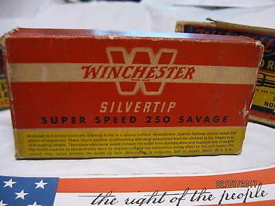 1940's Vintage 250 SAVAGE Winchester Silvertip ammo Box storage trays MORE boxes
