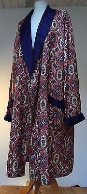 """Vintages Michaels 1940-60's Men's Classic Paisley Robe Smoking/dressing Gown 46"""""""