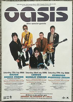 OASIS - LIVE 2000 full page press ad poster