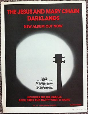 JESUS AND MARY CHAIN - DARKLANDS 1987 full page press ad