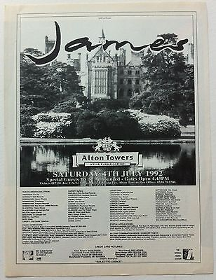 JAMES - ALTON TOWERS 1992 full page press ad