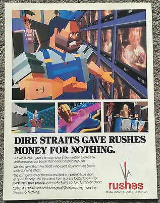 DIRE STRAITS - RUSHES 1985 full page magazine ad