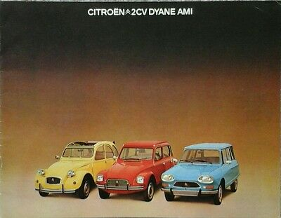 Citroen 2CV Dyane Ami Brochure - October 1976