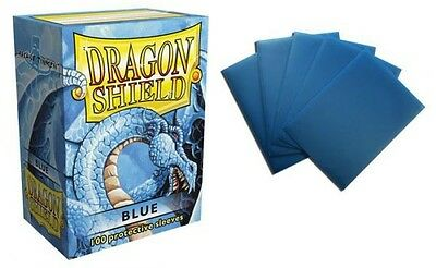 Dragon Shield - Blue 100 protective Sleeves Cases Standard Card holder