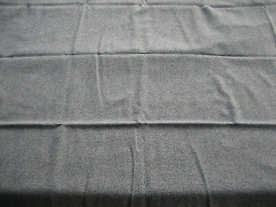 "NOS Vintage 100% Wool Heavy Weight Fabric Slate Blue - 90"" X 59"""