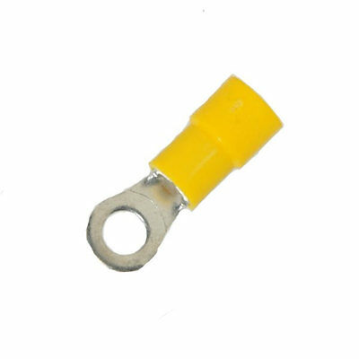 12-10 AWG 1/4 Stud Vinyl Insulated Ring Terminal - Quantity 25