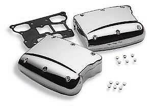 'Sculpted' 2-Piece Forged Aluminum Chrome Rocker Box Kit for Twin Cam Models 283